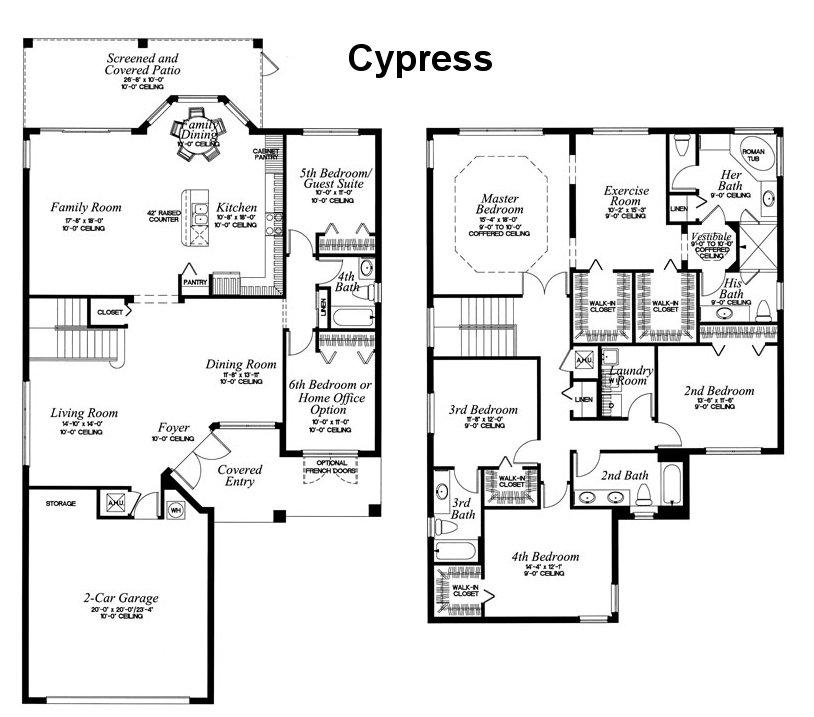 cypress Mercedes Homes Floor Plans Florida Cypress Palm on
