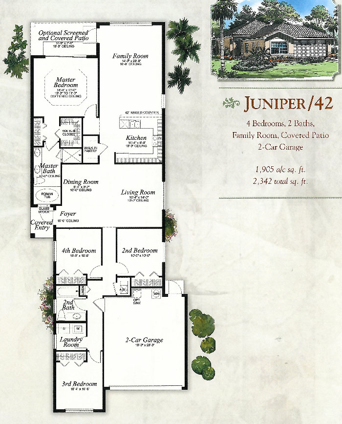 Botanica lakes floor plans for Juniper floor plan