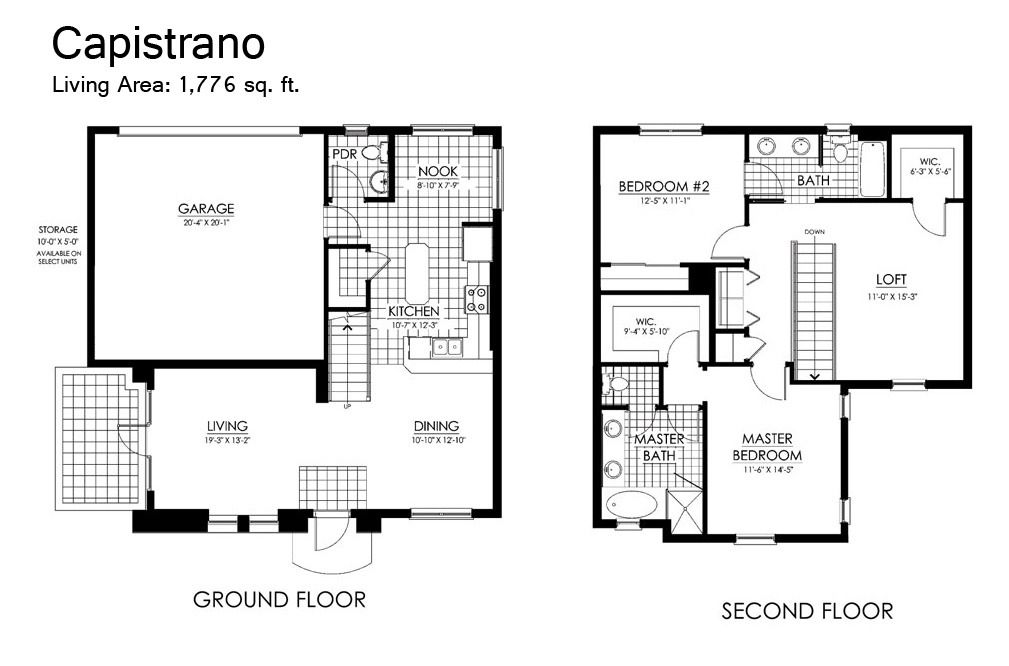100 Casitas Floor Plans Plumeria Floor Plan The