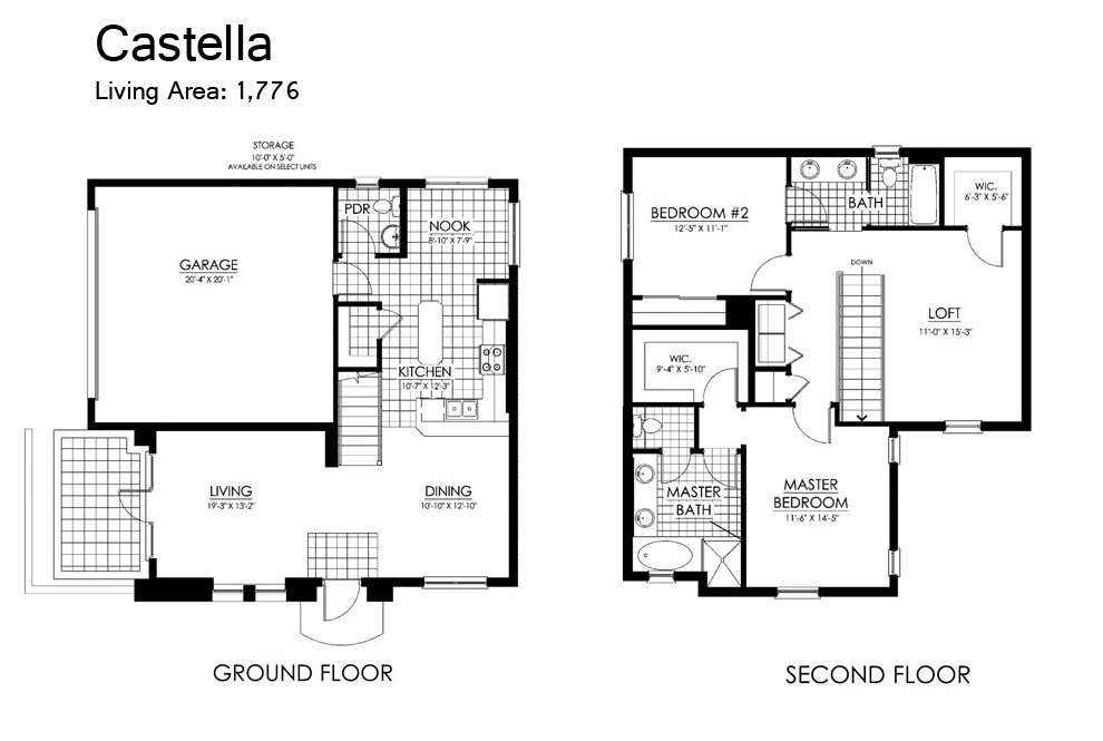 Paseo floor plans for 2 bedroom casita plans
