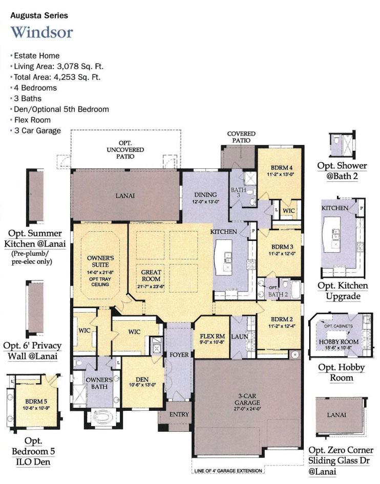 The plantation floor plans for Windsor homes floor plans
